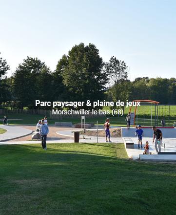 Parc paysager & plaine de jeux