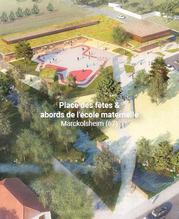 Place des fêtes et abords de l'école maternelle
